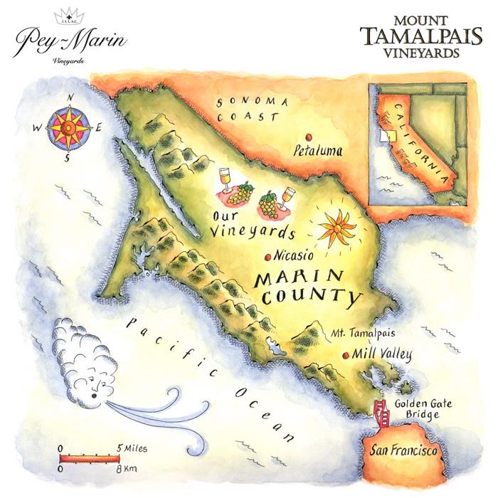 Pey-Marin Vineyards - Marin County Vineyard Map